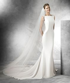 TATIANA - Mermaid wedding dress with a bateau neckline