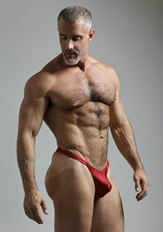 Underwear in mature man