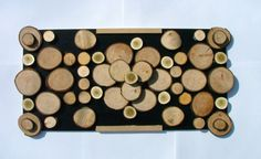 Rustic Tree Slice Wall Art Sculpture 12x24 add by DavesCustomSigns, $199.99