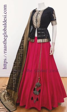 Latest Collection of Lehenga Choli Designs in the gallery. Lehenga Designs from India's Top Online Shopping Sites. Indian Gowns Dresses, Indian Fashion Dresses, Dress Indian Style, Indian Designer Outfits, Indian Outfits, Designer Dresses, Choli Designs, Lehenga Designs, Blouse Designs
