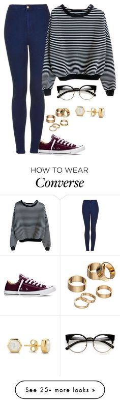 """Untitled #437"" by livuka on Polyvore featuring Topshop, Converse, Apt. 9 and Missoma"