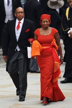 (In the photo: The Prince and Princess on their way to William and Catherine's wedding.) Princess Mabereng Seeiso of Lesotho is a member of the Royal Family of. African Wear, African Fashion, African Attire, African Style, African Dress, Wedding Carriage, African Princess, Shweshwe Dresses, African Royalty