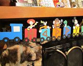 Character Train Happy Birthday Banner. $38.00, via Etsy.