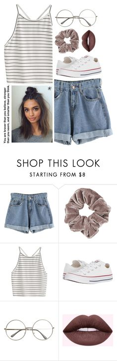 """Casual"" by tessilou14 ❤ liked on Polyvore featuring Topshop and Converse"