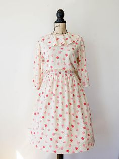 Vintage Floral Dress Size M Vintage Japanese Dress 1980s