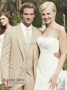 Wholesale Wedding Dress - Buy High Quality Champagne Men's Wedding Dress Groom Wear Bridegroom Suits Prom, $115.61 | DHgate