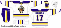 A what if concept series from the movie Slap Shot. A modern take of the teams in the Federal League if they existed today. Slap Shot, Team Uniforms, Ice Hockey, Concept, Modern, Sports, Movies, Federal, Hs Sports