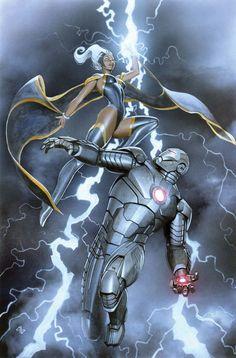X-MEN #20, Cover by ADI GRANOV Storm vs War Machine
