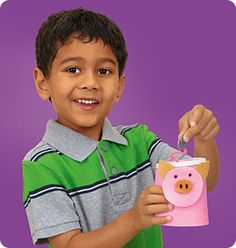 Piggy Bank craft at Lakeshore Learning: Saving money is tons of fun when kids make their own piggy bank!