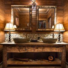 Rustic Bathroom by Gabberts Design Studio