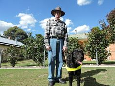 Frank Taylor and his Guide Dog Shiraz are happy for awareness to be raised for International Guide Dog Day Photo Sophie Lester / Warwick Daily News