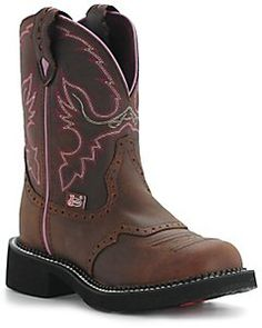 Justin® Ladies Gypsy™ Collection Boots - Distressed Pink Stitch Love them<3