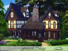 Fairytale Cottage is a cozy country house built on 30x20 lot in Windenburg. Found in TSR Category 'Sims 4 Residential Lots'