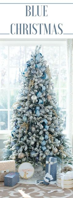 Blue Christmas Decor Theme