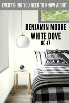 White Dove OC-17 is one of the best-selling and most popular white paint colors by Benjamin Moore. It's the perfect off-white paint color for kitchen cabinets, trim, interior walls and the homes exterior. #paintcolors #painting #interiordesign