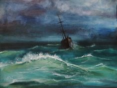 paintings of sea storms - Google Search