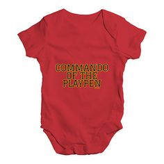 Commando Of The P...  http://twistedenvy.com/products/commando-of-the-playpen-baby-unisex-babygrow-bodysuit-onesies?utm_campaign=social_autopilot&utm_source=pin&utm_medium=pin   All artwork on Twisted Envy is created by artists from around the world.     #Twistedenvy