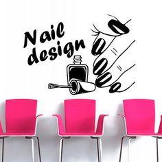 manicure+wall+stickers | Wall Decal Nail Polish Beauty Design Varnish Polish Manicure Wall ...
