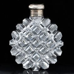 ANTIQUE c.1880 FRENCH CUT CRYSTAL SCENT PERFUME BOTTLE, SILVER GILT TOP. Price £255.00. For more information about this item click here: http://www.richardhoppe.co.uk/item.php?id=3195 or email us here: rhshopinformation@gmail.com