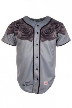 Sik Silk Rose Baseball Jersey Grey