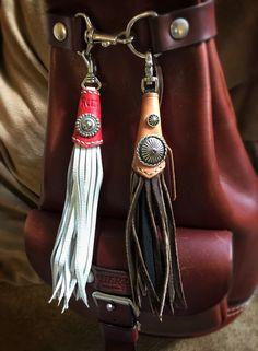 Left: RennieCraft tassel Right: HAZARD tassel by RennieCraft