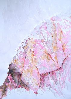 "Saatchi Online Artist: Helena Brandt; Watercolor, 2011, Painting """"Burnt mountain"""""