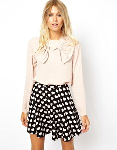 Top With Oversized Bow Detail