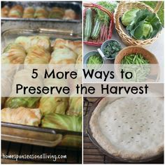 Save the bounty of the summer garden in different, unique, and tasty ways with these 5 more ways to preserve the harvest.
