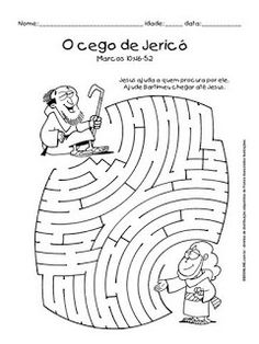 Jesus And The Blind Man Maze