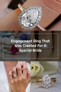 Engagement Ring That Was Created For A Special Bride ❤︎ Wedding planning ideas & inspiration. Wedding dresses, decor, and lots more. #weddingideas #wedding #bridal Wedding Rings Teardrop, Wedding Bride, Wedding Dresses, Weddingideas, Diamond Earrings, Wedding Planning, Engagement Rings, How To Plan, Bridal
