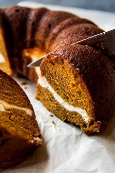 Nothing beats this pumpkin cream cheese bundt cake when the weather gets cooler! It couldn't be easier and it's always a hit!