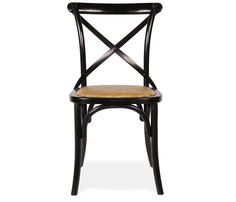 Danielle Side Chair - Black - Exclusive to Boston Interiors, this unique design was inspired by cafe chairs found in Parisian bistros. Steam bent and made of birch solids with a woven