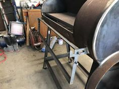 Post with 52 votes and 10292 views. Tagged with diy, bbq, smoker, lowandslow, texasbbq; Shared by Guyrogearloose. Bbq Smoker Trailer, Bbq Pit Smoker, Barbecue Pit, Bbq Grill, Diy Smoker, Portable Wood Stove, Sheet Metal Roller, Custom Bbq Smokers, Homemade Grill