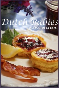 Dutch Babies are little pillowy clouds filled with fruity sweetness! A cross between a pancake and a crepe... eggy deliciousness...