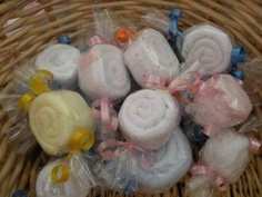 Washcloth Candy Baby Shower Favor Boy Girl Diaper Cake | eBay
