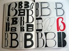 A Beautiful Sketchbook Series Of Hand-Lettered Alphabet In Different Styles - DesignTAXI.com
