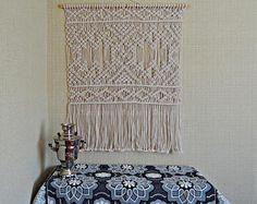 Large macrame wall hanging Macrame wall hanging Macrame decor Macrame wall art Bohemian decor Boho Wedding backdrop Happylife Fiber art