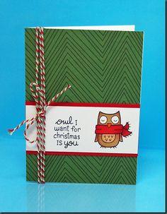Lawn Fawn Fa-La-La paper and Winter Owl stamp set