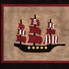 The Pirate Floor Rug by Sweet Jojo Designs, along with the Pirate bedding accessories, are available at TinyTotties.com with the lowest prices available anywhere. #tinytotties #roomdecor