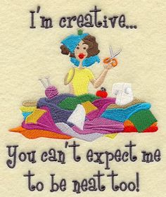 Amen! Our living room is a disaster with my projects strewn on the floor...