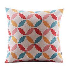 Leaves Geometric Cotton/Linen Decorrative Pillow Cover – USD $ 29.21