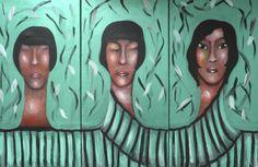 "VWL/ASIA/009 (B,A,C)  (Paris 2013 ""Greentych"")-Acrylic on canvas/Acrylique sur toile/Acrylico sobre tela (30X60cm)"