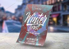 Best Winter Frost Poster Template  CreativeWork247 - Fonts, Graphics, Theme...