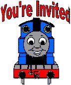 thomas the tank engine birthday invitation- FREE printable