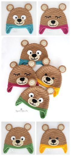 Bernat Bear Hat Free Crochet Pattern – Knitting Projects
