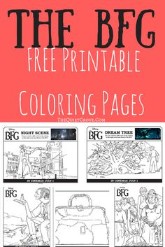 The BFG Free Coloring Pages and Activity Sheets More