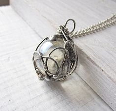 Tiffany pendant, statement pendant, rustic pendant, boho pendant, abstract pendant, ball pendant, glass pendant,transparent pendant, reversible