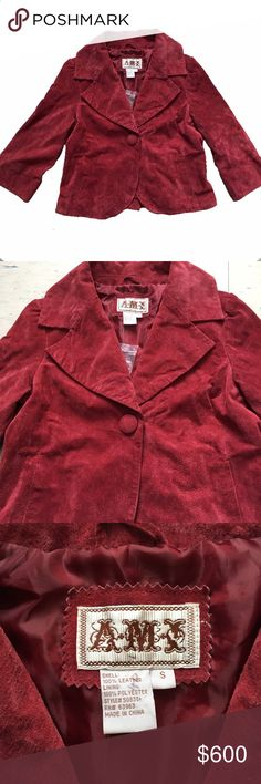 Vintage Leather Ami Jacket Exterior 100% leather in great condition Ami Jackets & Coats Trench Coats