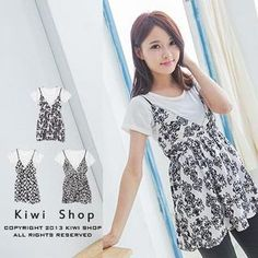 Buy 'Kiwi Shop – Set: Gathered-Waist Patterned Dress   T-Shirt' with Free International Shipping at YesStyle.com. Browse and shop for thousands of Asian fashion items from Taiwan and more!