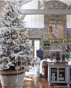 Love @artfulhomestead 's tree!!... - Interior Design Ideas, Interior Decor and Designs, Home Design Inspiration, Room Design Ideas, Interior Decorating, Furniture And Accessories